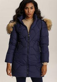 Niebieska kurtka pikowana Renee