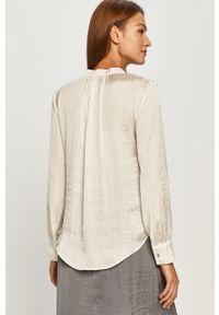 Kremowa bluzka DKNY długa, na co dzień, elegancka