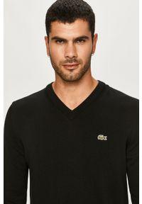 Czarny sweter Lacoste na co dzień, z długim rękawem