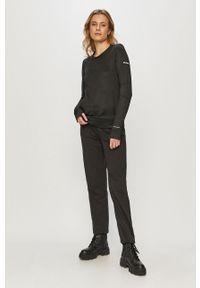 Czarna bluza columbia casualowa, na co dzień, bez kaptura, gładkie
