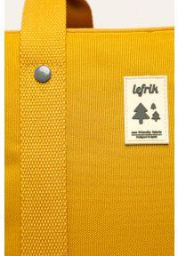 Żółty plecak Lefrik z aplikacjami