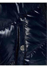 TOMMY HILFIGER - Tommy Hilfiger Kurtka puchowa Shiny Colorblock KG0KG05263 M Granatowy Regular Fit. Kolor: niebieski. Materiał: puch