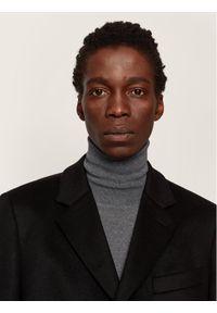 Czarny płaszcz przejściowy BOSS