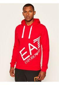 Czerwona bluza EA7 Emporio Armani