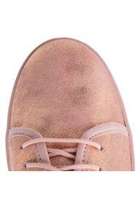 Różowe buty sportowe Oleksy na co dzień, z cholewką