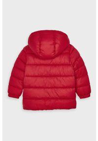 Czerwona kurtka Mayoral na co dzień, casualowa, z kapturem