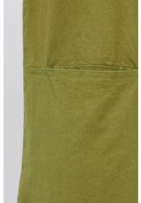 Quiksilver - Kombinezon. Okazja: na co dzień. Kolor: zielony. Materiał: tkanina. Wzór: gładki. Styl: casual