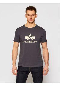 Alpha Industries T-Shirt Basic 100501 Szary Regular Fit. Kolor: szary #1