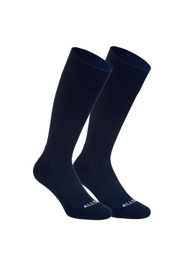 ALLSIX - Skarpety siatkarskie Allsix VSK500 wysokie. Kolor: niebieski. Materiał: elastan, poliamid. Wzór: paski