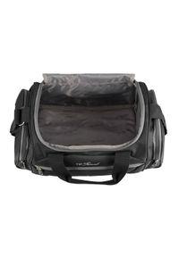 Wittchen - Średnia miękka torba podróżna dwukolorowa. Kolor: szary, wielokolorowy, czarny. Materiał: poliester