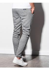 Szare spodnie Ombre Clothing klasyczne, melanż