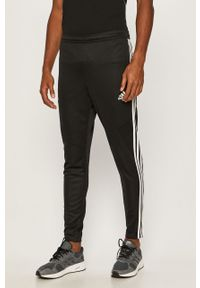 Czarne spodnie dresowe adidas Performance z nadrukiem