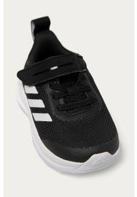 Czarne buty sportowe adidas Performance na rzepy, z okrągłym noskiem, z cholewką