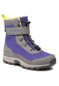 columbia - Śniegowce COLUMBIA - Youth Hyper-Boreal™ Omni-Heat™ Wp BY0127 Purple Lotus/Voltage 546. Kolor: fioletowy. Materiał: skóra, nubuk, materiał. Szerokość cholewki: normalna