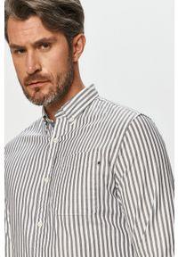 Niebieska koszula Premium by Jack&Jones button down, długa, casualowa, z długim rękawem