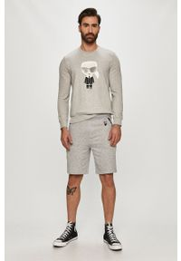 Szare szorty Karl Lagerfeld klasyczne, z nadrukiem, na co dzień