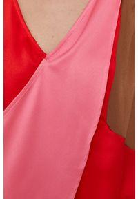 Sisley - Bluza. Okazja: na co dzień. Kolor: różowy. Materiał: tkanina. Styl: casual
