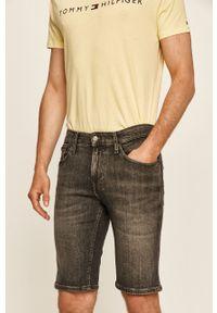 Szare szorty Tommy Jeans casualowe, na co dzień