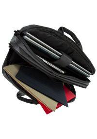Czarna torba na laptopa RIVACASE casualowa, w kolorowe wzory