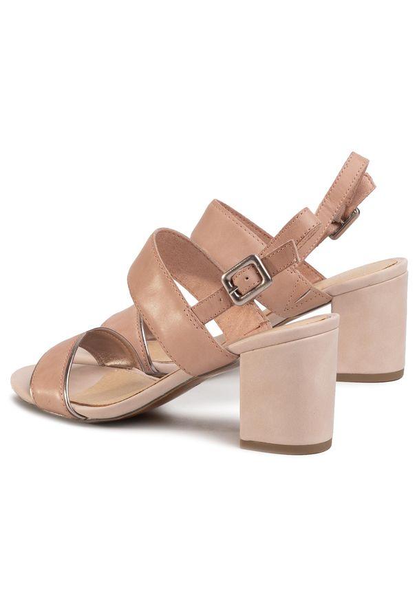 Różowe sandały Marco Tozzi na co dzień, casualowe