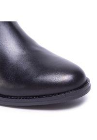 Czarne botki Gabor z cholewką, na średnim obcasie, na obcasie #7