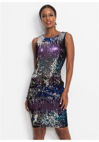 Niebieska sukienka bonprix na imprezę, w paski