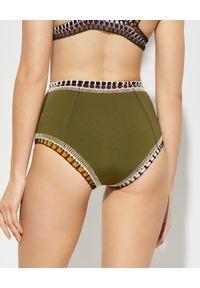 KIINI - Dół od bikini Wren. Stan: podwyższony. Kolor: zielony. Materiał: nylon, materiał, poliester