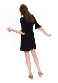 Czarna sukienka TROLL na co dzień, casualowa, na wiosnę #7