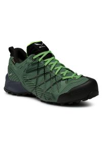 Zielone buty trekkingowe Salewa Gore-Tex, trekkingowe