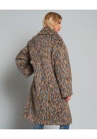 Kenzo - KENZO - Płaszcz z wełny. Kolor: brązowy. Materiał: wełna