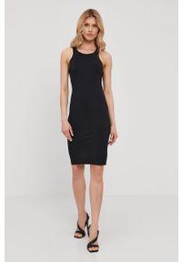 Czarna sukienka Patrizia Pepe klasyczna, na co dzień