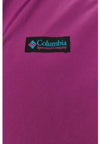 Fioletowa kurtka columbia bez kaptura, casualowa, na co dzień