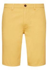 Quiksilver Szorty materiałowe Everyday Chino EQYWS03468 Żółty Straight Fit. Kolor: żółty. Materiał: materiał