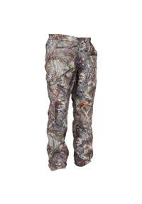 SOLOGNAC - Spodnie myśliwskie ciepłe Solognac 100 camo. Materiał: tkanina, polar