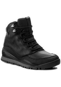 Czarne buty trekkingowe The North Face na platformie, trekkingowe, z cholewką