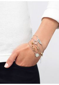 Komplet bransoletek (5 części) bonprix srebrny kolor - złoty kolor