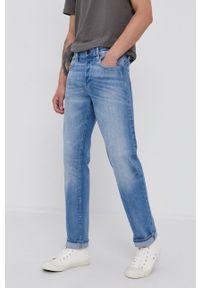 G-Star RAW - G-Star Raw - Jeansy. Kolor: niebieski. Wzór: aplikacja