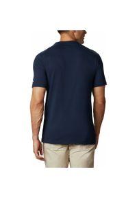 Niebieska koszulka sportowa columbia