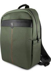"Plecak Ferrari Ferrari Plecak FEOCEBP15KA 15"" zielony/khaki Off Track. Kolor: brązowy, wielokolorowy, zielony"