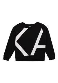 Czarna bluza Karl Lagerfeld bez kaptura, z nadrukiem