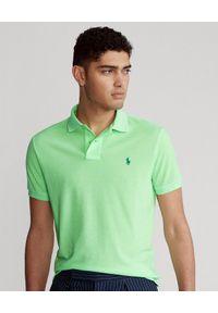 Zielone polo z krótkim rękawem Ralph Lauren ze splotem, polo