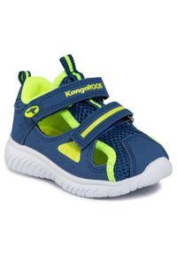 Niebieskie półbuty KangaRoos na co dzień, na rzepy, rockowe #6