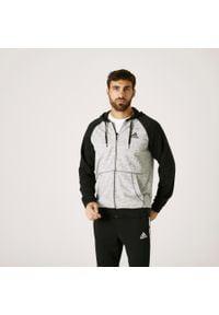 Adidas - Bluza na zamek z kapturem fitness Essentials. Typ kołnierza: kaptur. Materiał: wiskoza, bawełna, poliester. Sport: fitness