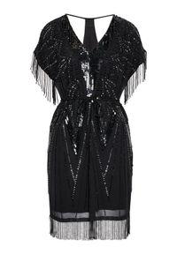 TwinSet Sukienka koktajlowa 211TT2621 Czarny Regular Fit. Kolor: czarny. Styl: wizytowy