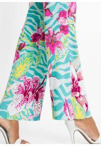 Zielone spodnie bonprix eleganckie, w kwiaty