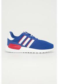 Niebieskie buty sportowe adidas Originals z cholewką, z okrągłym noskiem, na sznurówki