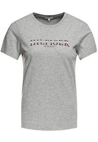 TOMMY HILFIGER - Tommy Hilfiger T-Shirt Kacy C-Nk WW0WW25892 Szary Regular Fit. Kolor: szary