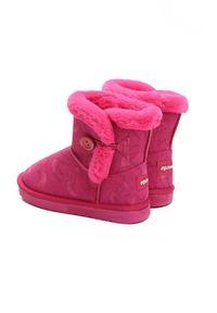 Born2be - Fuksjowe Śniegowce Stormily. Okazja: na co dzień. Nosek buta: okrągły. Zapięcie: bez zapięcia. Materiał: futro, materiał. Szerokość cholewki: normalna. Wzór: aplikacja, nadruk. Sezon: zima. Styl: elegancki, casual