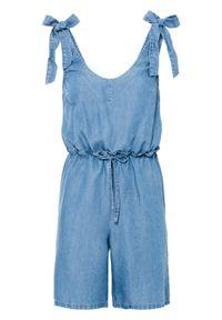 Niebieski kombinezon bonprix elegancki, na ramiączkach