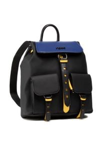 Nobo - Plecak NOBO - NBAG-K0170-CM20 Czarny Z Niebieskim. Kolor: czarny. Materiał: skóra. Styl: elegancki